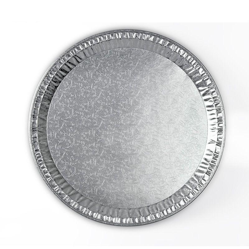 Aluminiumfolie Steam Table Pfannen, hausgemachte Kuchen, Brot, Verdickung Hackbraten Quiche Backwerkzeug Einweg, Kapazität 850 ML, 12inch, 5 Pack