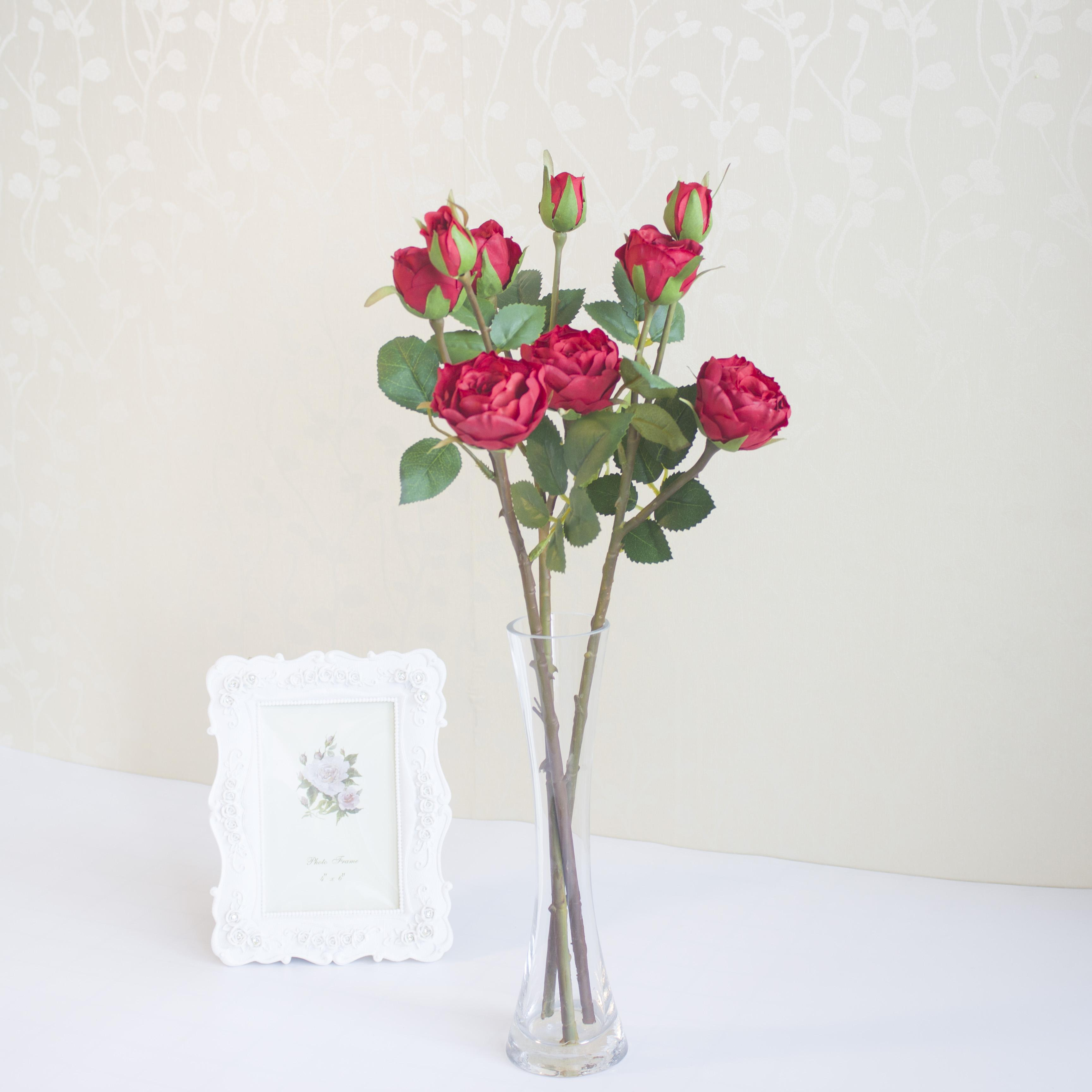 Ubiz 3 heads rtificial flowers petals for wedding centerpieces ubiz 3 heads rtificial flowers petals for wedding centerpieces decoration mariage silk roses household products rose in the glass ubiz flower home wedding izmirmasajfo