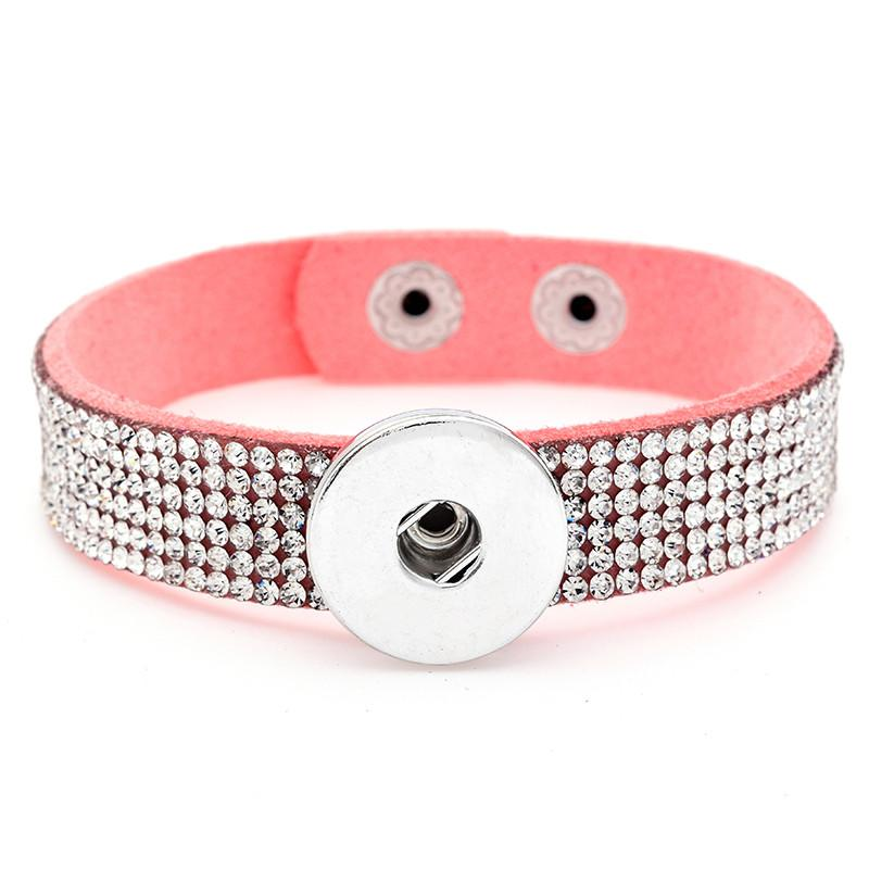 Luxury Full Crystal Rhinestone Noosa Chunks Bracelet Fit 18mm Snap Buttons Bangle Unisex Mix Colors Fashion Jewelry