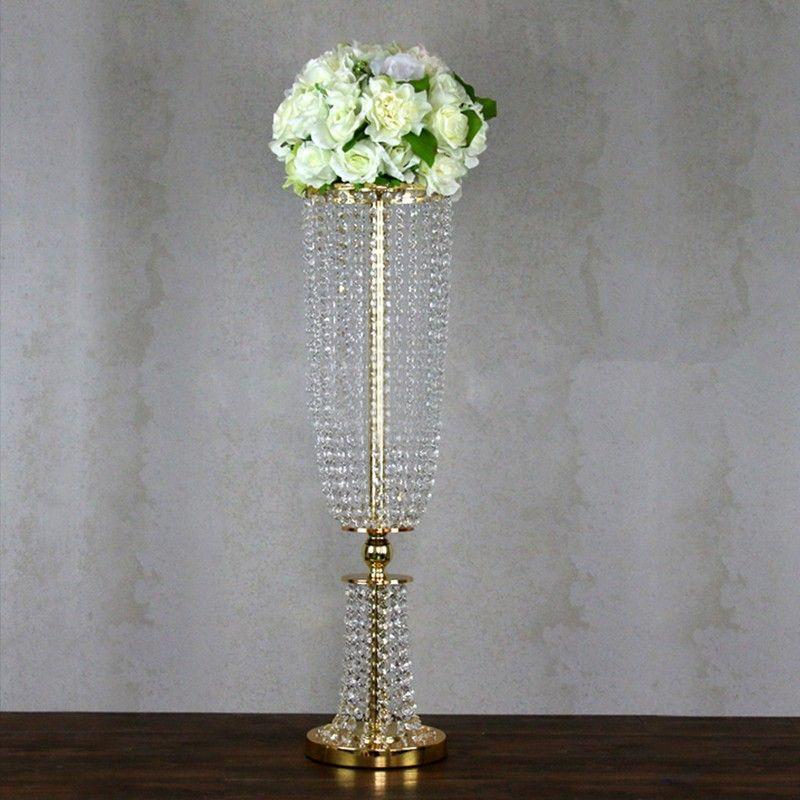 퍼널 디자인에 / 80cm 높은 웨딩 센터 조각 장식 럭셔리 크리스탈 기둥