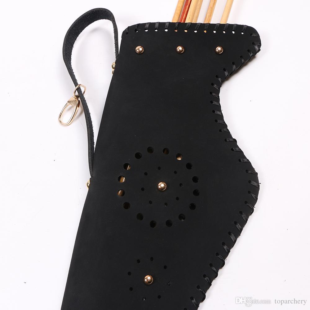 Faretra della freccia del supporto della borsa dell'arco della mucca della mucca l'accessorio all'aperto di caccia dell'arco tradizionale di Recurve che spedice liberamente