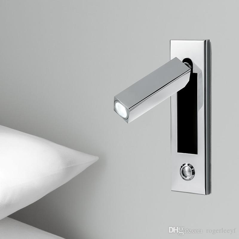 Topoch 2x led wall lights semi recessed with touch dimmer 3w chrome topoch 2x led wall lights semi recessed with touch dimmer 3w chrome finish ac100 240v dc12 24v head swivels 90degree leftrightforward led wall lights wall aloadofball Image collections