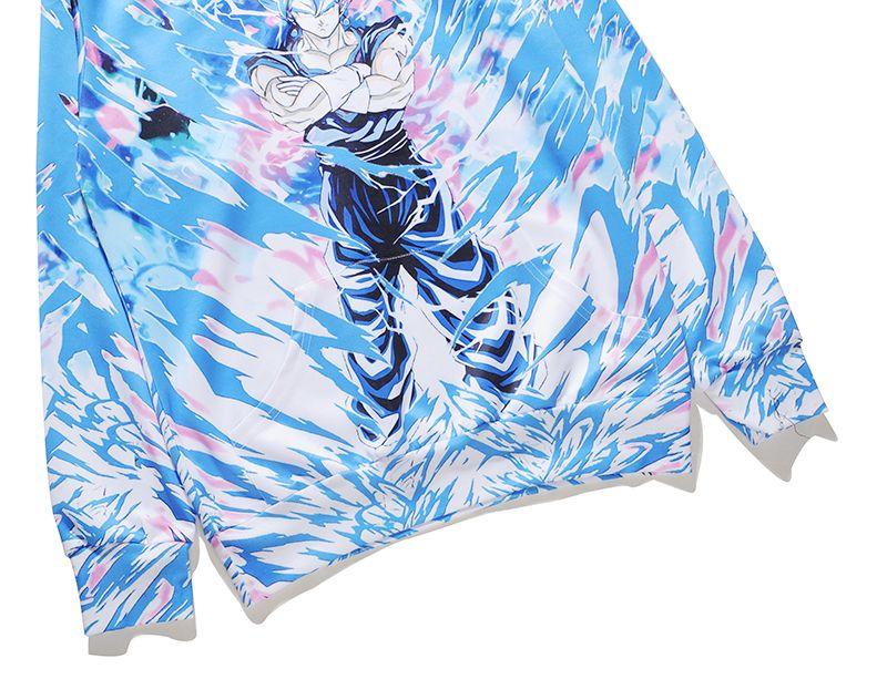 Ünlü Karikatür Figürü 3D Baskılı Hoodie ve Kazak Moda Mavi Taban Kazak ve Tişörtü Hip Hops Coat BL-132