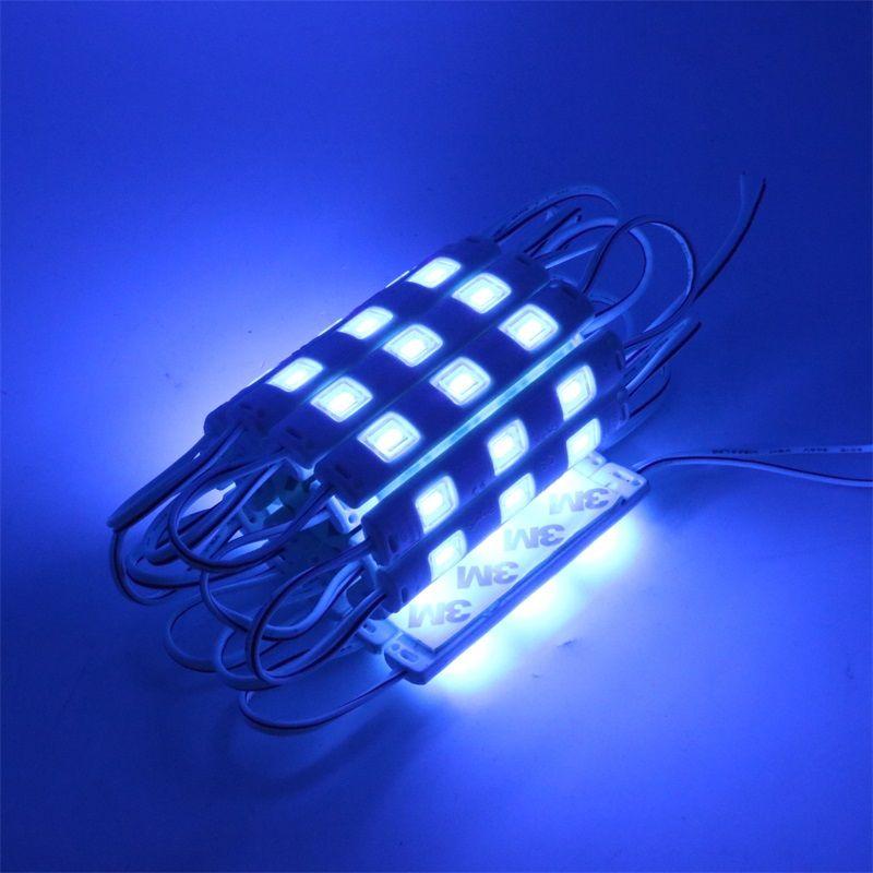 1000 قطع الصمام وحدات ضوء 5730 smd dc 12 فولت ip65 للماء حقن 3 المصابيح عالية الطاقة أدى الإضاءة الخلفية وحدات مع غطاء العدسة