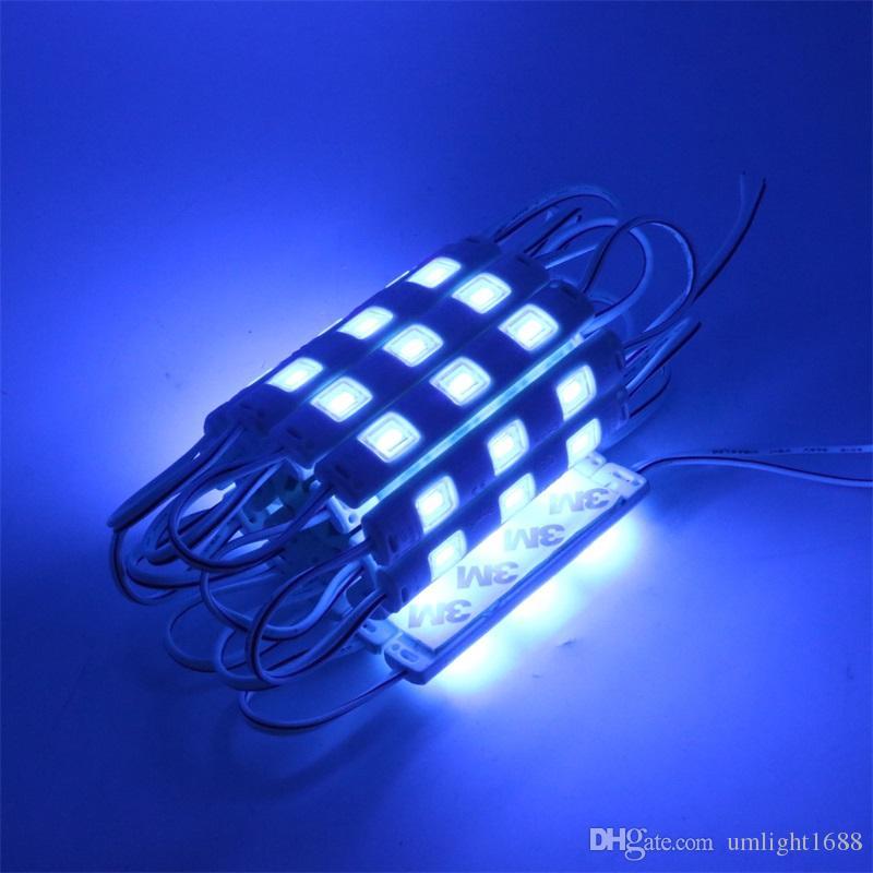 السوبر مشرق تقنية الإضاءة الخلفية LED وحدات ضوء 12V 1.5W 3LEDS أدى ضوء وحدات 5630 حقن ماء على قناة الرسالة وحدات الإضاءة