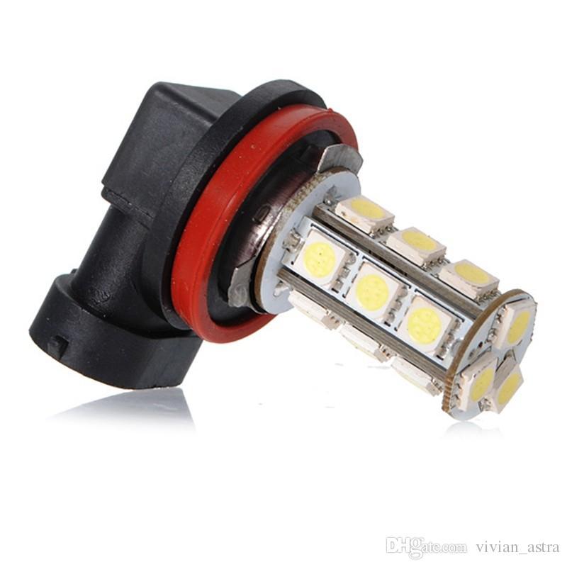 2 pçs / lote melhor preço branco h11 h8 18 led 5050 smd auto carro dia de condução de luzes de nevoeiro farol lâmpada bulbo dc12v
