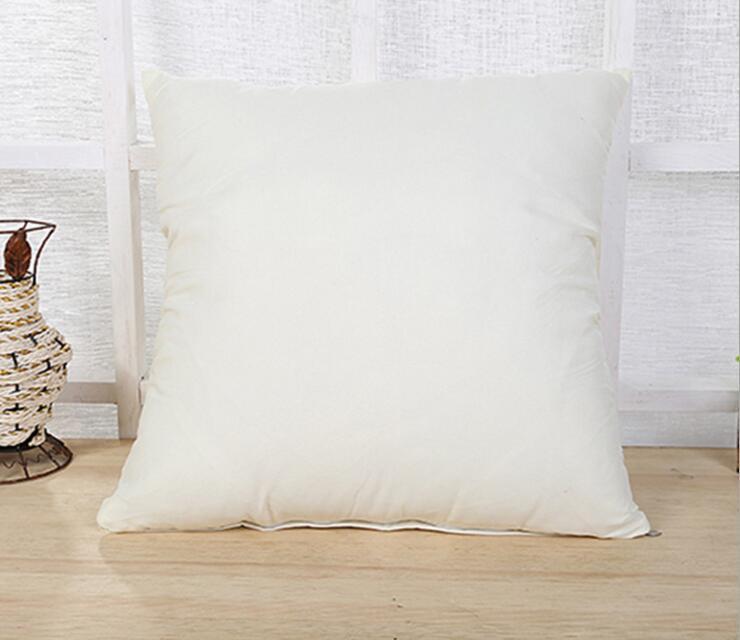 홈 45 * 45cm 홈 소파 베개 케어 퓨어 컬러 폴리 에스터 화이트 베개 커버 쿠션 커버 장식 베개 케이스 빈 크리스마스 장식 선물