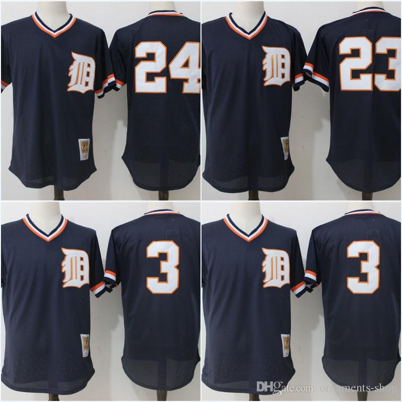 2018 mesh mens detroit tigers jersey 23 kirk gibson 3 alan trammell 24 miguel cabrera throwback high