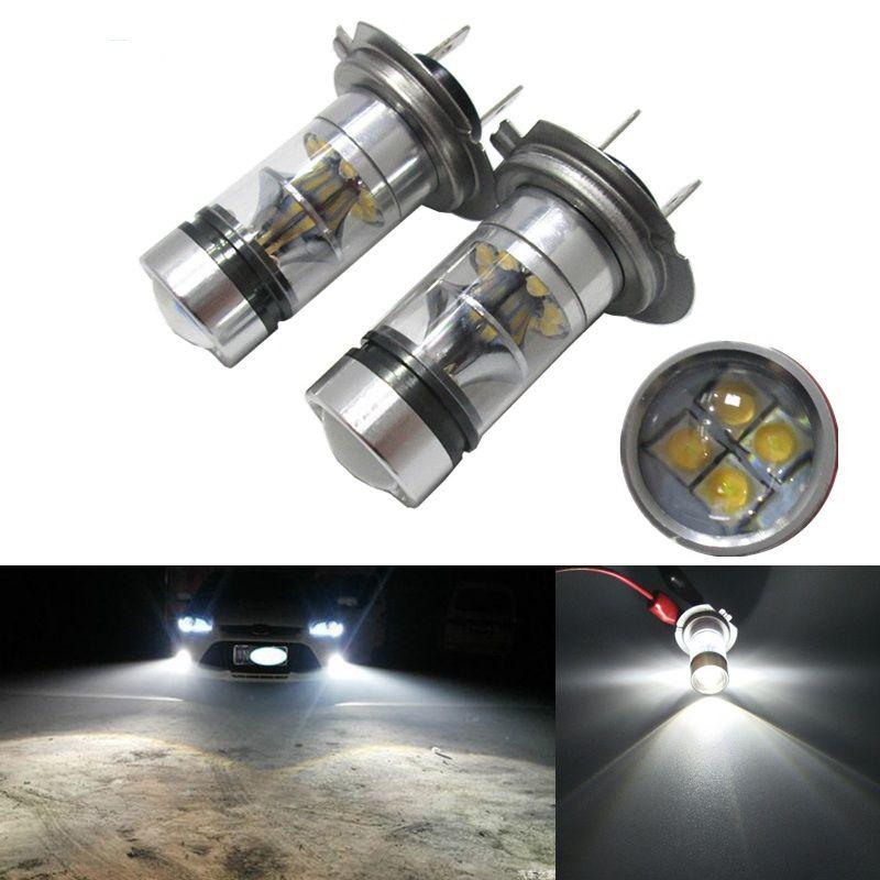 h7 led 16 smd led 100w reverse vehicle auto fog head light. Black Bedroom Furniture Sets. Home Design Ideas
