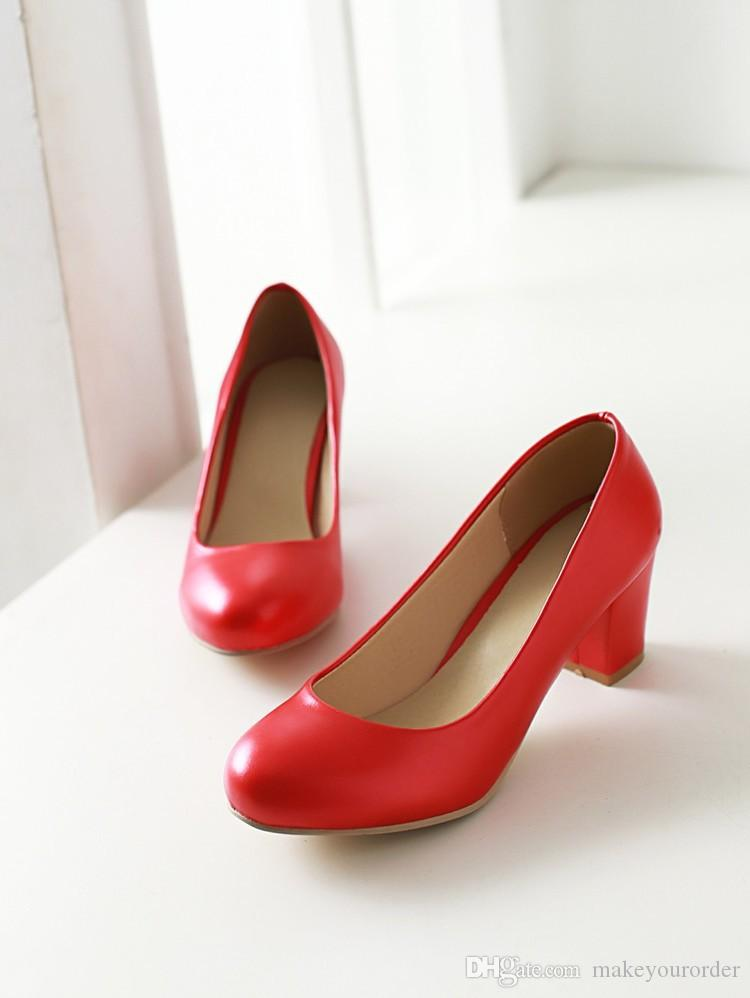 wholesaler factory price chunky heel round nose lady office women wedding shoes dress shoes103