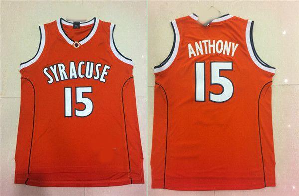 رجل سيراكيوز أورانج Camerlo أنتوني كلية كرة السلة الفانيلة Camerlo أنتوني رقم 15 قميص جامعة رخيصة مخيط كرة السلة جيرسي