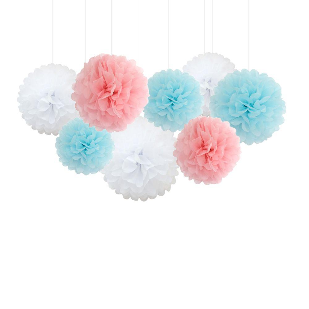 2018 Wholesale 1230cmpaper Pom Poms Flowers Ball Wedding Home