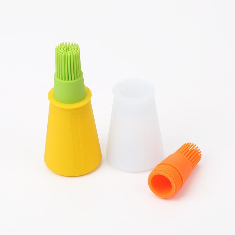 Kitchen BBQ Oil Bottle Brush Silicone Cake Butter Bread Pastry Brush Baking Pancake Basting Tool Mixed Colors