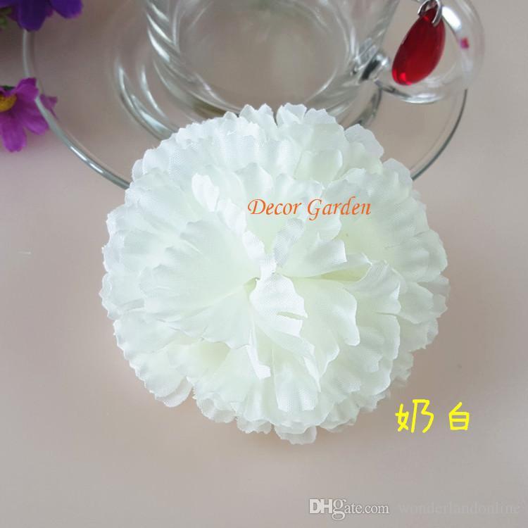 9 CM Yapay karanfil Dekoratif Ipek Çiçek Baş DIY anneler Günü Için Çiçek buketi Ev Dekorasyon Festivali Malzemeleri FC01