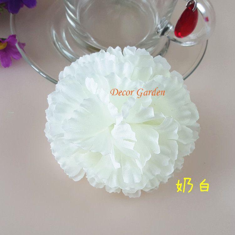 9CM Artificial carnation Decorative Silk Flower Head For DIY Mother's Day Flower bouquet Home Decoration Festival Supplies FC01