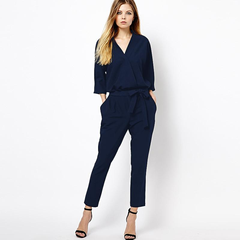 a4fc6bb7dded 2019 Wholesale Rompers Womens Jumpsuit European Style Women New Summer  Chiffon Women S Overall Fashion Waist Ladies Casual Pants Coveralls From  Primali