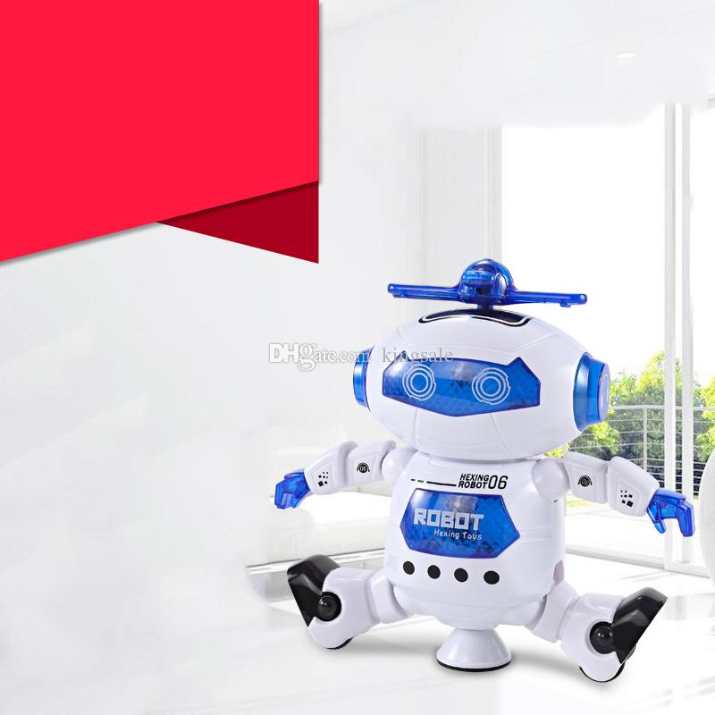 HOT Dancing Robert Electronic Toys With Music And Lightening Best Gift For Kids Model Toy Fast