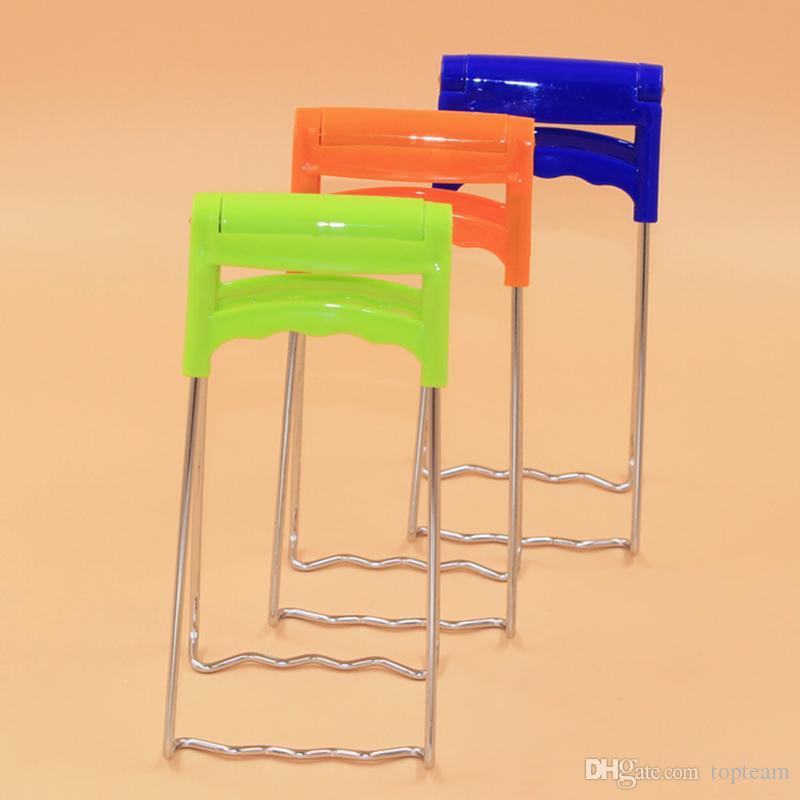 In acciaio inox Prendere la ciotola Clip Anti-scottatura Mention Bowl Kitchen Device Anti-Scald Clamp Clip Plate Bowl Dish Holder