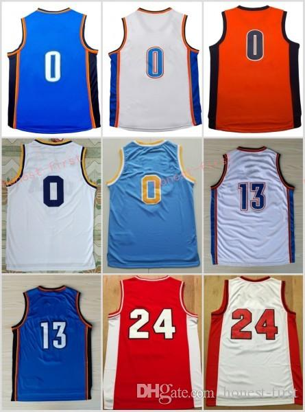 bb567d939c66 ... Stitched 2017 2017 New 13 Paul George Jersey Men 0 Russell Westbrook  Blue White Orange Basketball Jerseys ...