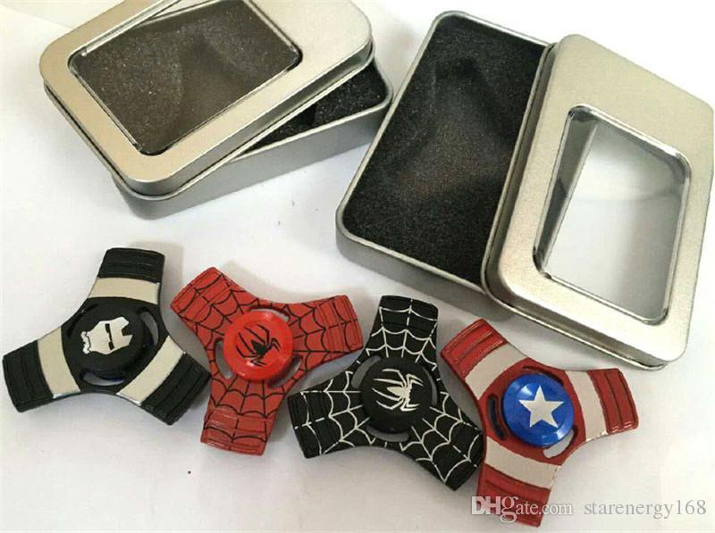 DHL Fidget Spinner Oyuncaklar Demir Adam Spiderman Alüminyum Alaşım Yonca Parmaklarınızın Gyro Oyuncaklar Anksiyete Dekompresyon Komik Yenilik Oyuncak El K-ZJ
