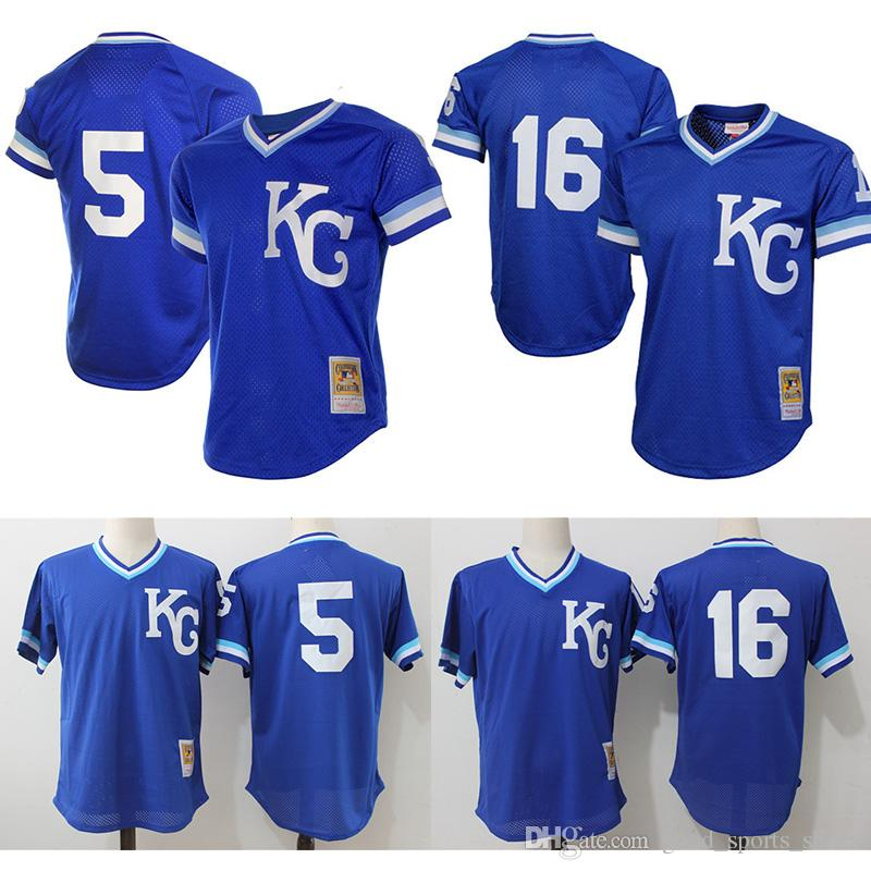 0687f223e28 ... authentic jersey  2017 kansas city royals throwback baseball jerseys 16  bo jackson 5 george brett mitchell ness royal