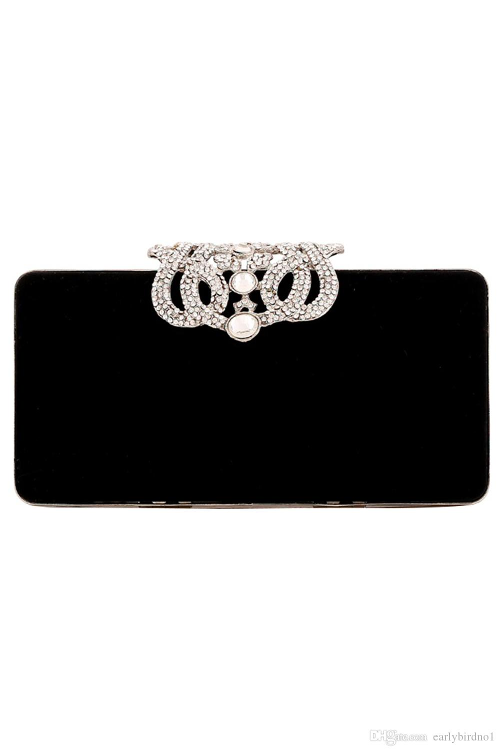 2018 New Luxury Women Bridal hand bags shoulder bag wedding events party diamond crystal beaded satin bag wallet CPA958
