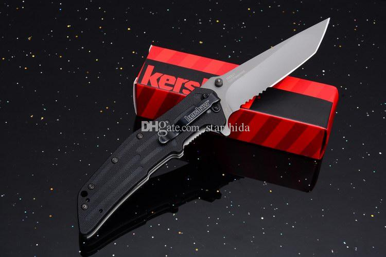 2017 Kershaw 1985ST RJI Grid Assisted Titanium Tactical Folding Knife G10 Serrated Outdoor Camping Hunting Survival Pocket Knife EDC Tools