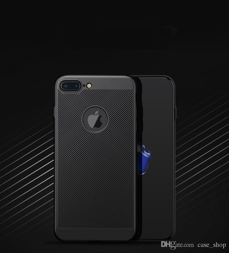 Heat Dissipation Case For iPhone X 8 7 6 6S Plus 5 5S SE Hollow Mesh hard back Cases
