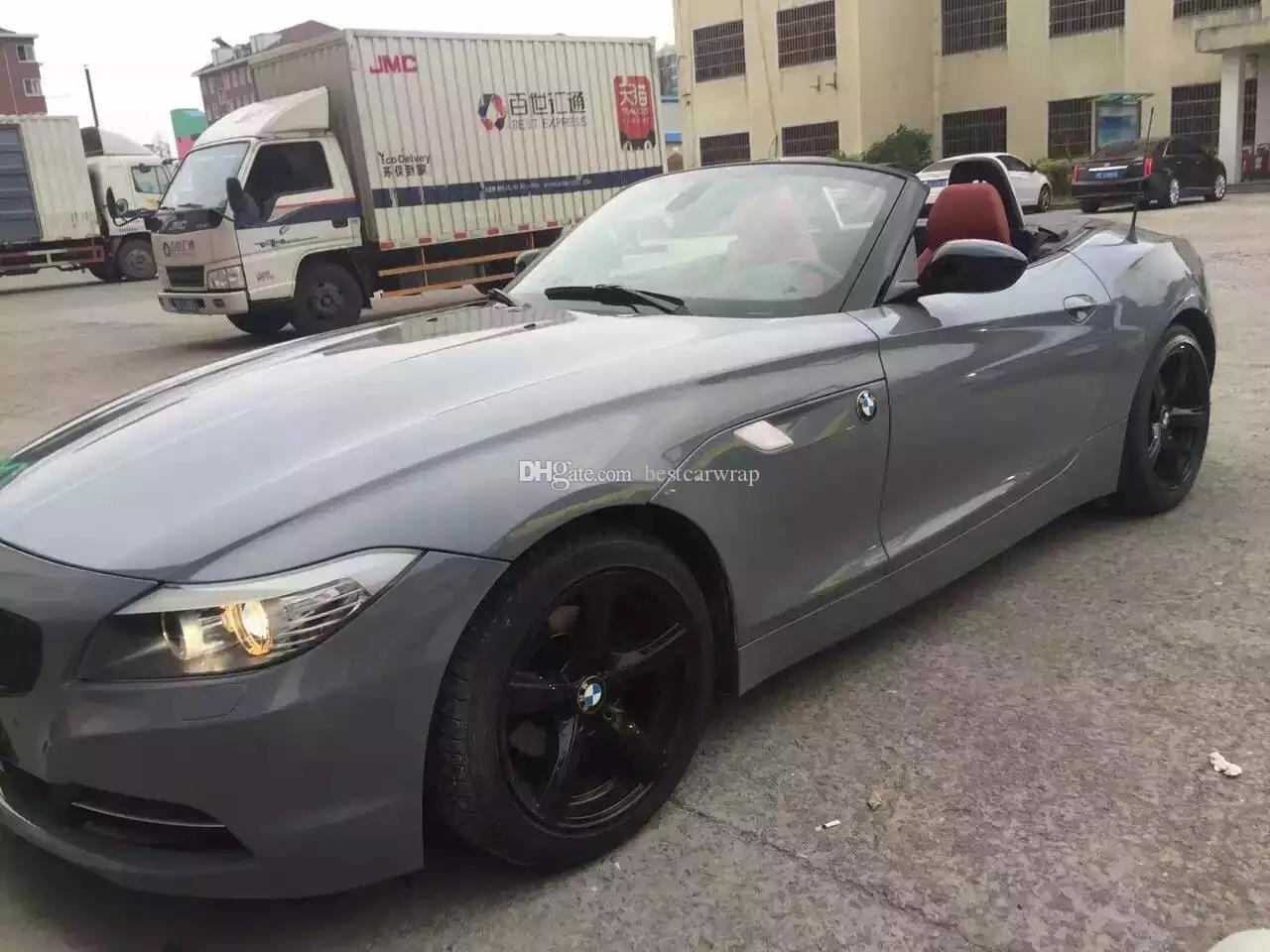 3 Layers Nardo Gray Vinyl wrap For Car Wrap Film Covering with air Free  Vehicle / Motorcyles / boat Wrapping Size:1 52*20M/Roll 5x66ft
