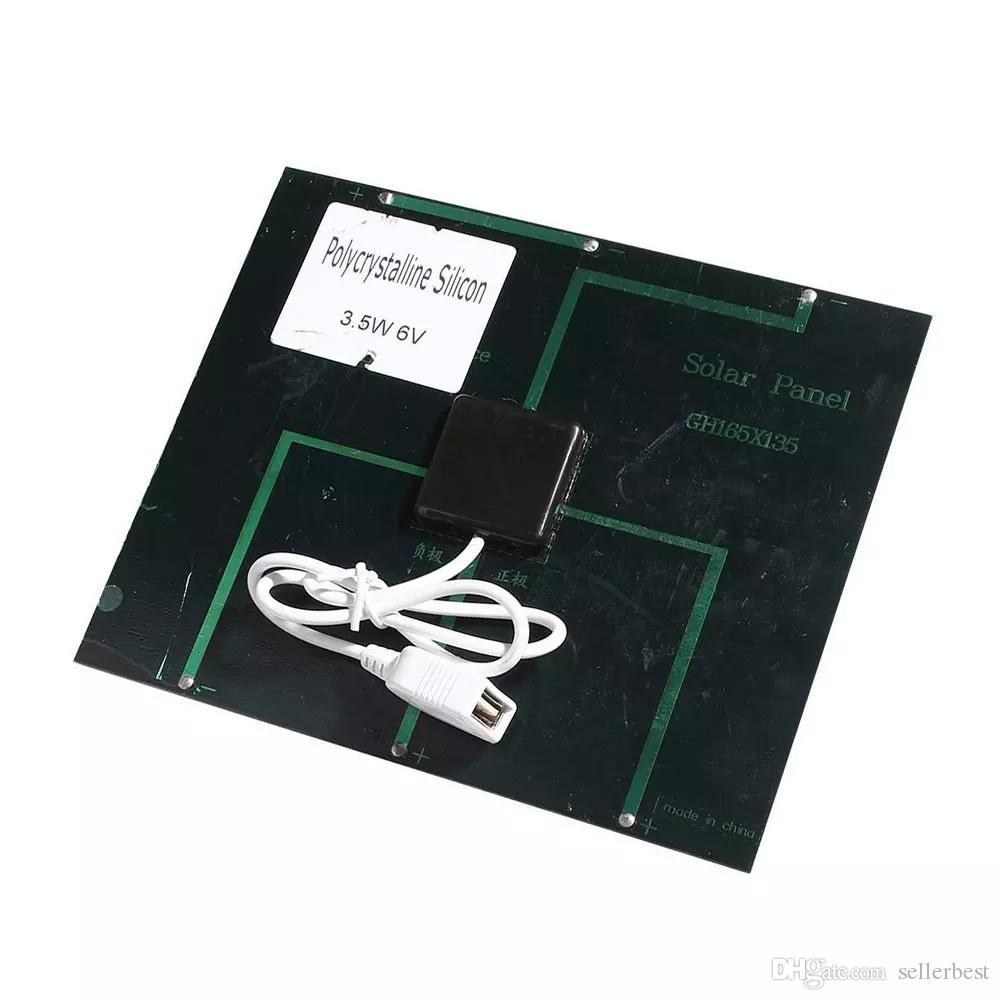 Universal 6 V 3.5 W Chargeur Panneau Solaire USB OTG Portable Chargeur Solaire Dispositif Mobile Panneau Solaire Alimentation Banque pour Téléphone En Plein Air
