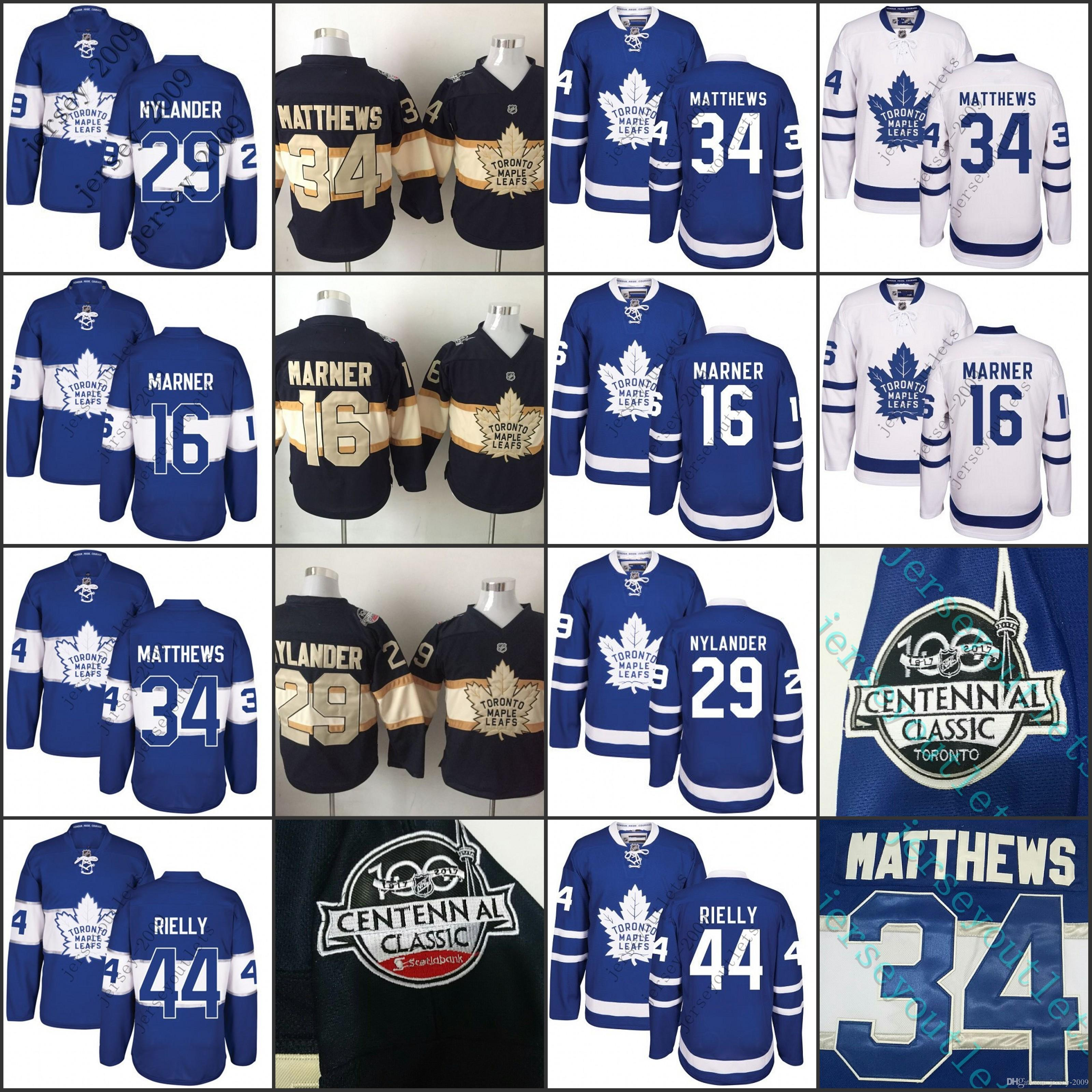 ... 50% off stitched nhl jersey 2017 centennial classic men toronto maple  leafs 100th 34 auston 7145ba34e