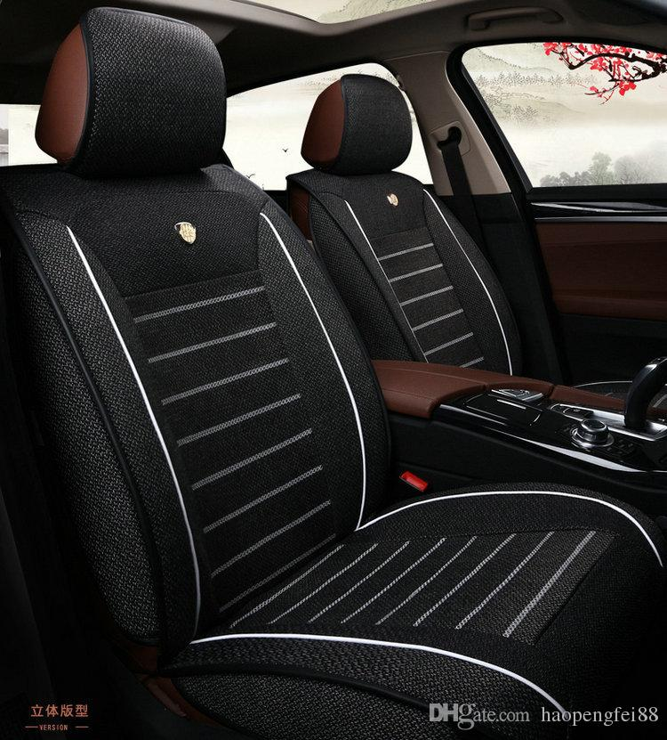 Linen Fabric Car Seat Cover Set For Audi Bmw Buik Cadilac Chrysler Chery Fitted Covers Trucks Fitting From Haopengfei88