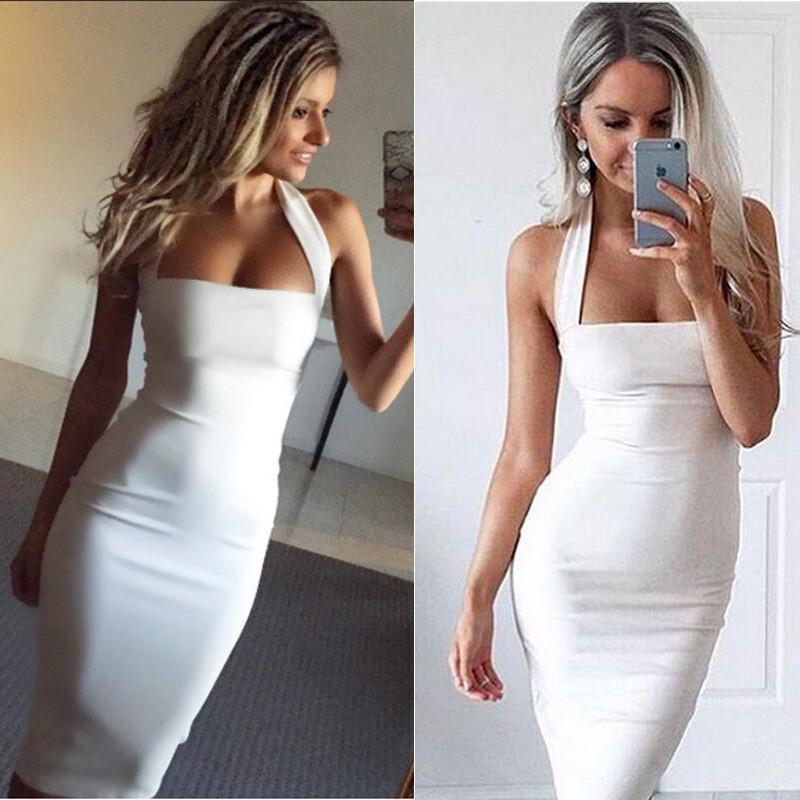 Новая Мода Женщины Повязки Bodycon Повседневные Платья Без Рукавов Вечернее Сексуальное Вечернее Коктейльное Платье Миди Bodycon Бинты платье ОДНОКРАТНОЕ ПЛАТЬЕ