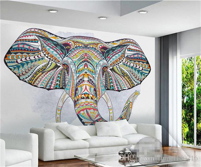 Animal Elephant Photo Mural 3D Custom Wall Paper for Living Room TV Backsplash Minon Wallpapers Home Art Wall Decorative