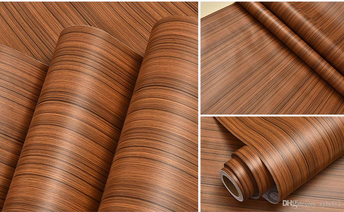 red white black Back-glue pvc wood grain wall sticker waterproof wallpaper wall stickers furniture cabinets refurbished stickers dormitory