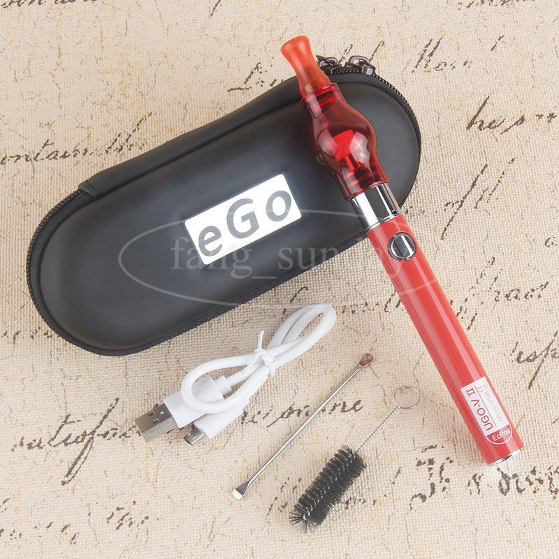 Dab Pens Vape Vaporizador Tanques de cúpula de vidrio Globo Atomizador Wax Attachment Vapor 650 900mah Micro USB Passthrough Charge UGO VII Baterías