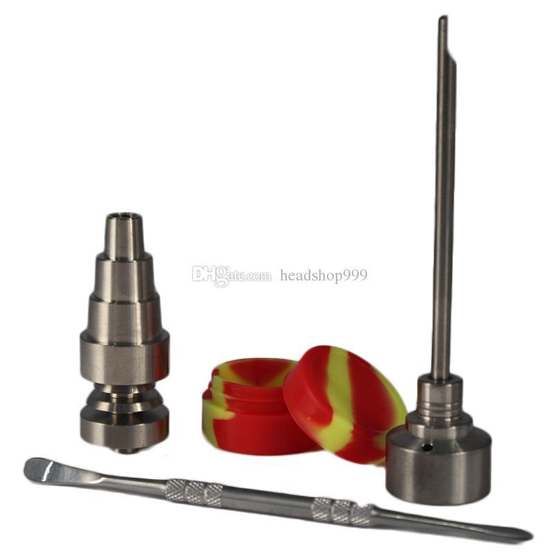 유리 봉 도구 세트 T-002 티타늄 네일 CAP 캡 Dabber 도구 슬리 네 항아리 DAB 컨테이너