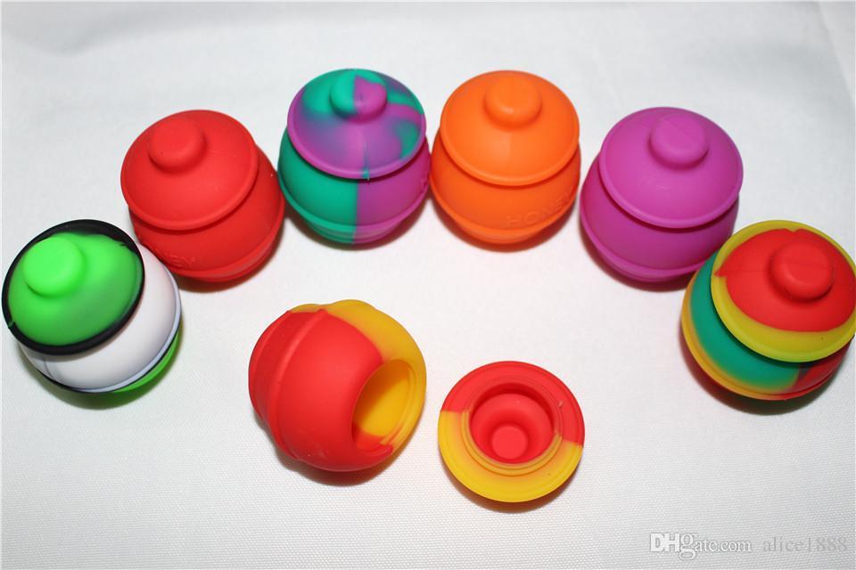 Silikon yapışmaz Dab Konsantre Balmumu 35 ml Silikon Bal Için Konteyner Konteyner Kavanoz Konteyner Kapak Kavanoz