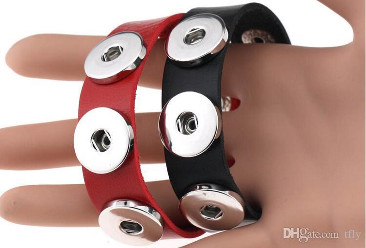 2017 패션 다채로운 NOOSA 정품 가죽 팔찌 생강 스냅 보석 교환 할 수있는 18mm 매력 매력 포퍼 보석 DHL