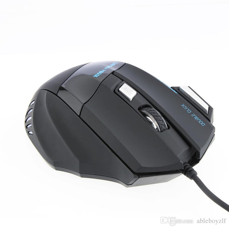 3200 DPI LED boutons optiques 7 avec molette de défilement USB filaire Gaming Mouse Game 3200 DPI Pro Gamer Souris Ordinateur pour PC