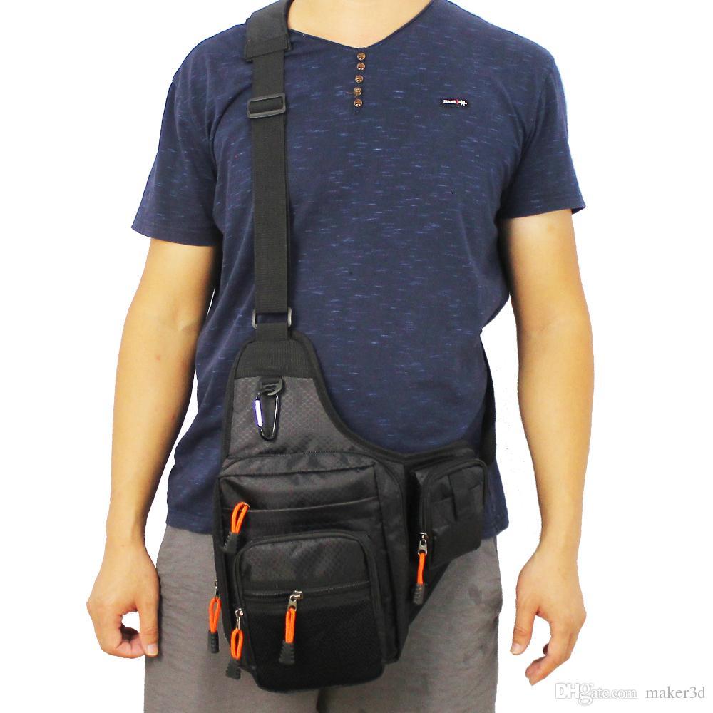 Kylebooker Fishing Bag Multi-Purpose Canvas Waterproof Fishing Reel Lure Tackle Bag