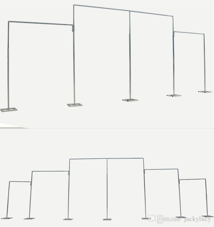 High Quality Stainless Steel Pipe Wedding Backdrop Stand With Expandable Rods Backdrop Frames For Wedding Event&Party Decoration
