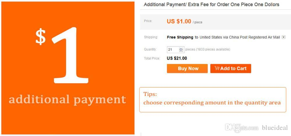 Payment after Communication extra fee.you can pay here = 1 USD