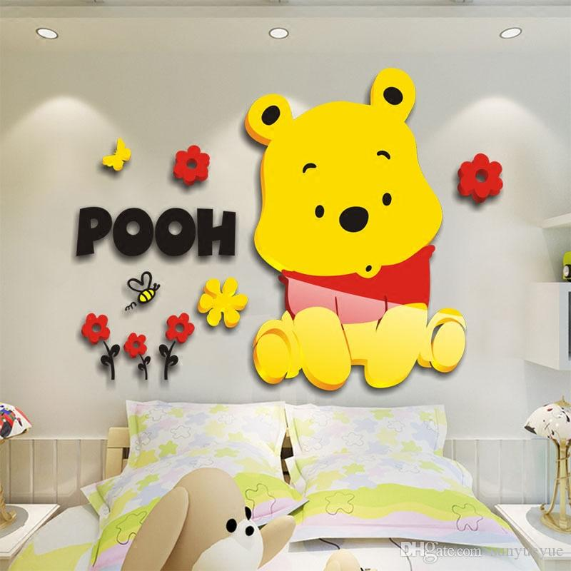 Winnie The Pooh Cartoon Sticker Creative Partner Portfolio Removable ...