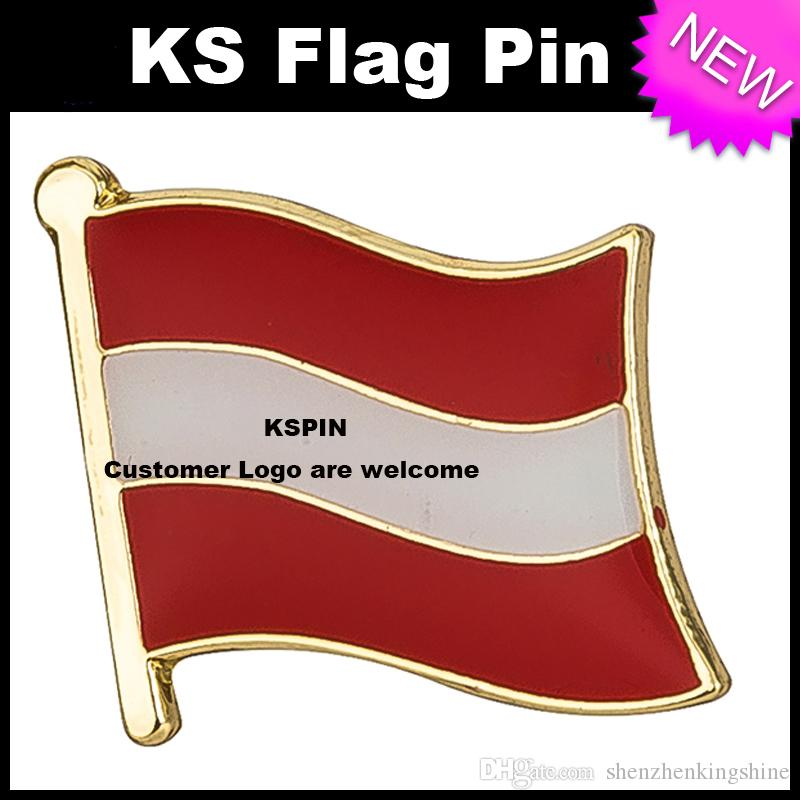 Il della bandiera del distintivo della bandierina dell'Albania spilla trasporto libero KS-0001
