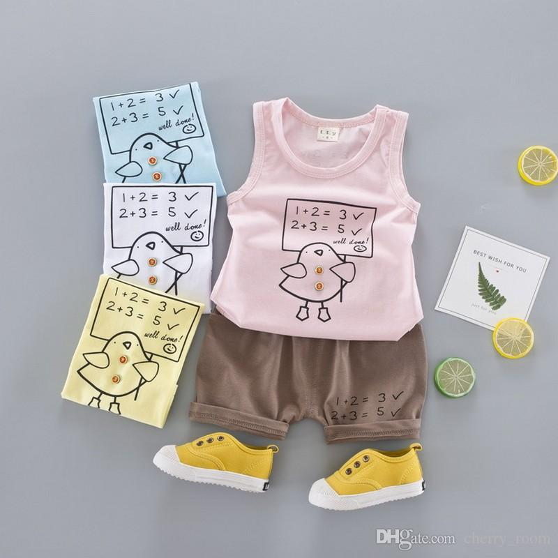 198a54b2d Cartoon Boys Outftis Summer Baby Clothing Sets Infant Causal Set ...
