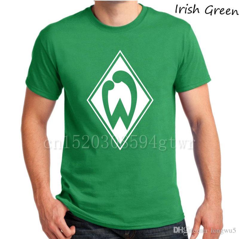 eb3d1899b4 Compre SV Werder Bremen Alemanha Deutschland Weserstadion Werder Verde  Dell esercito Bianco Schaaf Max Kruse T Shirt Ozil Gnabry Camiseta Camiseta  De ...