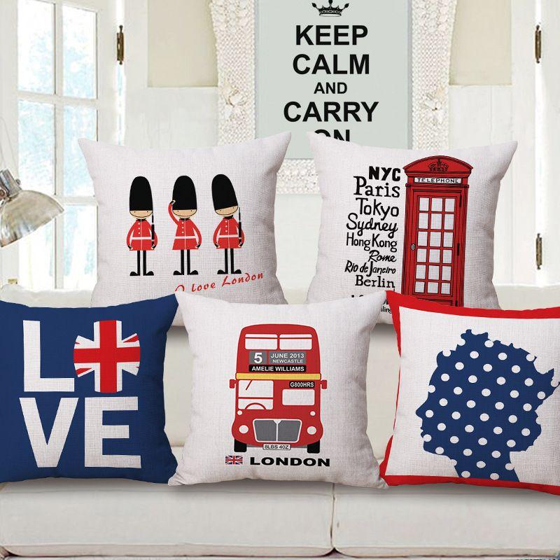 London Love Royal Guard Telephone Cushion Covers Thick