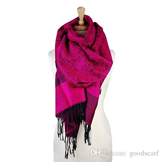 Becolored Women luxury cashmere viscose blended scarf warp autumn winter scarf shawls pashmina scarf fashion drop shipping