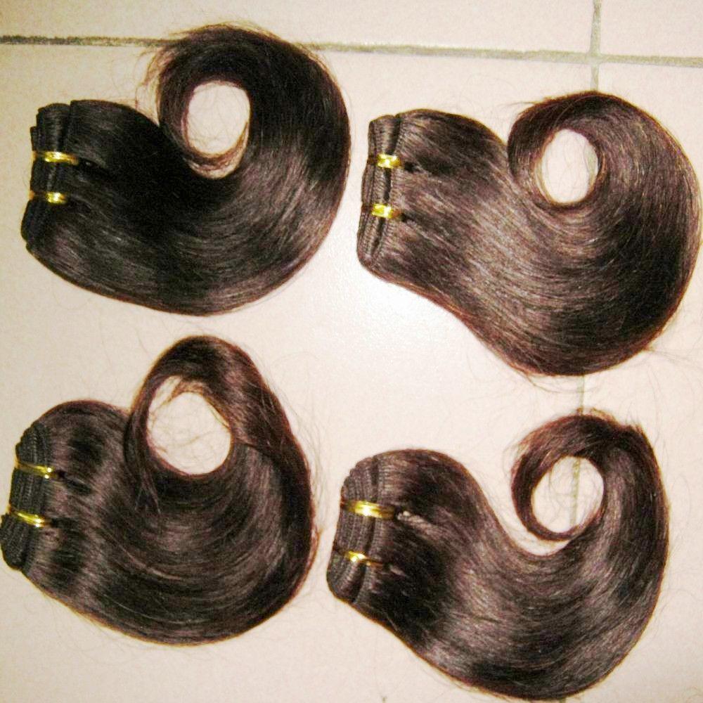 7 قطعة / الوحدة أفضل البائع الجملة سعر المصنع الأعمال الخام البرازيلي الشعر البشري لحمة ملحقات لينة